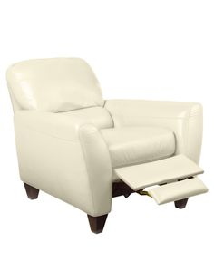 $799 38 W x 38 D x 36 H Almafi Leather Recliner -  sc 1 st  Pinterest & Pavia Leather Club Pushback Recliner | Recliner Leather furniture ... islam-shia.org