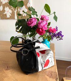 TEKOA 731 borsa in jeans dipinti e pelle recuperata Milano, Bucket Bag, Take That, Pouch Bag, Bag