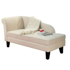 I pinned this Leena Storage Chaise from the A Sophisticated Study event at Joss and Main!