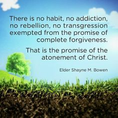"""Watch """"Reclaimed:"""" http://youtu.be/a7V2ET7p5FA by Elder Shayne M. Bowen who teaches that """"Just as a garbage dump can be turned into a beautiful park, a life of sin can be cleansed and changed through the Atonement of Jesus Christ. The Atonement is available to each of us. It can clean, reclaim, and sanctify even you."""" From his inspiring #LDSconf http://facebook.com/223271487682878 address http://lds.org/general-conference/2006/10/the-atonement-can-clean-reclaim-and-sanctify-our-lives…"""