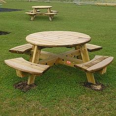 Along with playground equipment we also supply a wide range of outdoor furniture including this picnic bench that is manufactured from high quality timber.