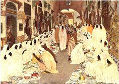 Alexandre Roubtzoff - : Le souk des femmes. Tunis