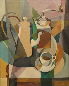 Youla Chapoval (French/Ukrainian, 1919-1951), Nature morte [Still Life]. Oil on canvas, 30 x 24 in.