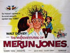 The Misadventures of Merlin Jones, 1964 Disney movie poster, Half Sheet