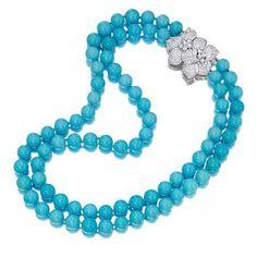 A turquise and diamond necklace coraljewelry Modern Jewelry, Luxury Jewelry, Fine Jewelry, Fancy Jewellery, Jewellery Sale, Jewelry Stores, Pandora Jewelry, Gemstone Earrings, Diamond Earrings