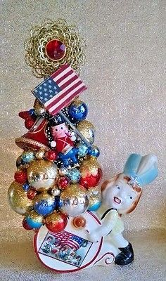 Patriotic-Fourth-of-July-Ornament-Wreath-Vintage-Inspired-Handmade-MADE-TO-ORDER