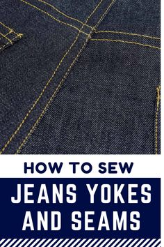 Latest Screen How to sew the jeans yoke and side seams - The Last Stitch Popular I love Jeans ! And a lot more I like to sew my own, personal Jeans. Next Jeans Sew Along I am like Sewing Hacks, Sewing Tutorials, Sewing Tips, Tutorial Sewing, Sewing Crafts, Sewing Patterns Free, Free Sewing, Couture, Sewing Jeans