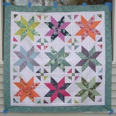 Star quilt with link to tutorial