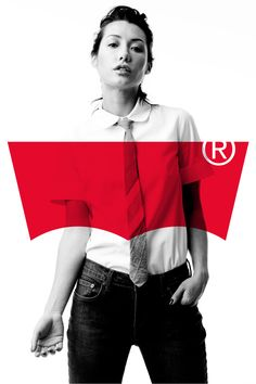 Turner Duckworth for Levi's The registered trademark symbol being so large takes away from what might have been a very impactful ad.