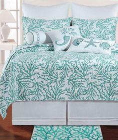 Cora Blue Quilt Bedding by C & F Enterprises