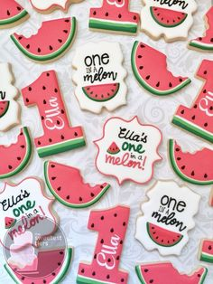 37 Super Ideas For Fruit Decoration Birthday Watermelon Cakes First Birthday Cookies, 1st Birthday Party For Girls, First Birthday Themes, First Birthday Decorations, Baby First Birthday, Birthday Ideas, Watermelon Birthday Parties, Fruit Birthday, Birthday Nails