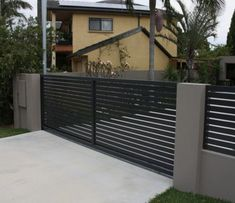 We specialize in custom wood fences and gates in Santa Monica, Manhattan Beach, Beverly Hills, Los Angeles areas. If you need a driveway gate, fence or wall topper give us a call. House Front Gate, Garage Gate, Front Gates, Entrance Gates, Front Gate Design, House Gate Design, Main Gate Design, Gate Designs Modern, Modern Fence Design
