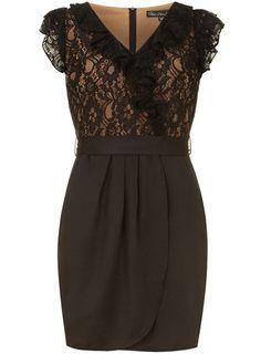 Black lace wrap dress. LOVE!