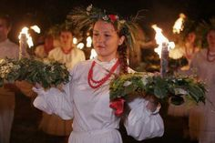 """historia-polski:  Noc Kupały - Kupala Night (June 23rd/24th) """"Many of the rites related to this holiday within Slavic religious beliefs, due to the ancient Kupala rites, are connected with the role of water in fertility and ritual purification. On Kupala day, youth jump over the flames of bonfires in a ritual testing of one's bravery and faith. A couple in love's failure to complete the jump while holding their hands is a sign of their destined separation. Girls would float wreaths of ..."""