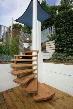DIY spiral staircaseoutdoor spiral staircase   Google Search   Our Favorite Interior  . Exterior Wood Spiral Staircase. Home Design Ideas