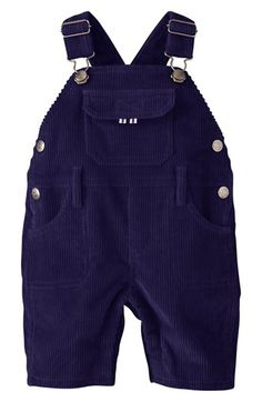 Mini Boden 'Chunky Corduroy' Reversible Overalls (Baby Boys) available at #Nordstrom