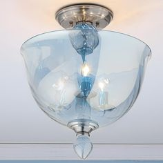 Modern Murano Glass Bowl Semi Flush Ceiling Light