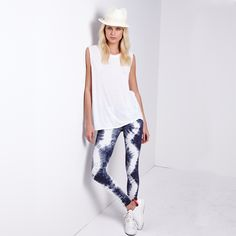 The ancient Japanese tie-dying technique known as shibori is this season's hottest trend. Outfit: Michael Stars