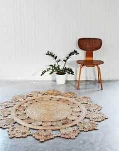 hand woven doily crochet round hemp area rug armadillo u0026 co from hammers u0026 heels saved to bedroom ideas
