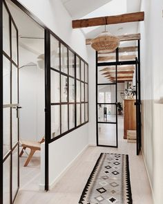 steel glass frame Industrial design staples House styles 4 Industrial Style Staples That Will Blend With Any Home Decor House Design, House Styles, House Interior, Farmhouse Design, Home, Interior, Industrial Interior Style, Industrial Style, Brooklyn Apartment