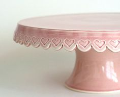 Heart Cake Stand 12 inch Pink by JeanetteZeis on Etsy Cake And Cupcake Stand, Cupcake Cakes, Cupcakes, Cake Dome, Take The Cake, Love Cake, Cake Pedestal, Vintage Cake Stands, Cake Carrier
