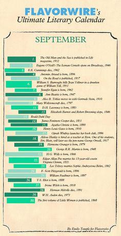 September Literary Calendar