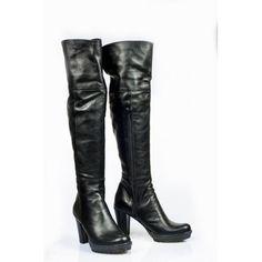 Dámske čižmy z prírodnej kože čierne - manozo.hu Heeled Boots, Heels, Womens Fashion, Zapatos, High Heel Boots, Heel, Heel Boots, Boots, High Heel