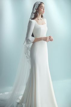 Plain Wedding Dress, Classy Wedding Dress, Wedding Dress Trends, Wedding Dress Sleeves, Modest Wedding Dresses, Bridal Dresses, Wedding Gowns, Pretty Dresses, Stunning Wedding Dresses