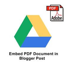 How To Embed PDF Documents In Blogger Blog Posts - I so needed this tutorial, like, a year ago.
