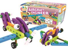 Kids follow along as the included storybook challenges them to build 10 vehicles with the 71 large, colorful pieces. The kit introduces kids to simple engineering concepts while they build a space shuttle, hang glider,… read more