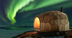 realized by SPINN arkitekter and FORMAT engineers, the hammerfest hiking cabin provides warmth and shelter for those journeying into the arctic circle. Arctic Cabins, Trekking, Trondheim, Stavanger, Norway Design, Going Off The Grid, Wooden Cabins, Kabine, Arctic Circle