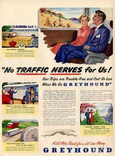 Greyhound Bus Washington Dc Farm Ad T (1949)
