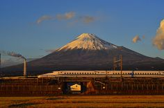 Mount Fuji and Shinkansen