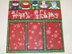 Creative Cricut Designs & More....: Happy Holidays Scrapbook Layout