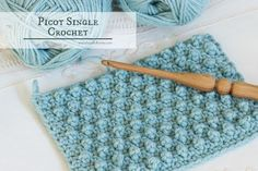 Crochet Tutorial Ideas How To: Crochet The Picot Single Crochet - Easy Tutorial - The Picot Single Crochet creates the cutest and tiniest little bobbles, which has me head-over-heels with this stitch as it creates the cutest baby blankets Free Form Crochet, Love Crochet, Learn To Crochet, Simple Crochet, Crochet Stitches For Blankets, Crochet Stitches Patterns, Crochet Patterns For Beginners, Crochet Tutorials, Picot Crochet