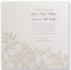 DIY - Ways to add pearls to your wedding invites. Read the article: http://www.invitationsbydavidsbridal.com/Wedding-Tips/diy-ways-to-add-pearls.hlp?&sSource=Pinterest&kw=Vintage_WeddingTips_Pearls #VintageWedding #WeddingInvitations