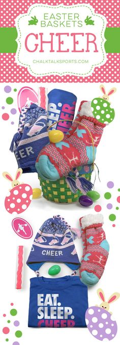Surprise your favorite cheerleader this Easter with our super festive Easter baskets designed for Cheerleading!