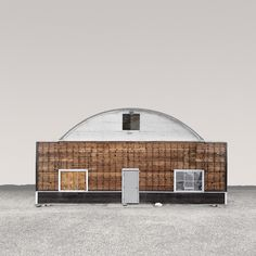 Desert Realty by Ed Freeman; While driving around SoCal deserts, Ed Freeman was struck by the beauty of the desolate buildings he passed on the way. Ed Freeman, Photo Ed, Quonset Hut, Photorealism, Photo Series, Abandoned Buildings, Abandoned Places, Architecture, Minimalism