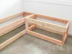 HGTV has step-by-step instructions on how to build a custom L-shaped bench with storage. Storage Bench Seating, Booth Seating In Kitchen, Corner Bench Seating, Banquette Seating In Kitchen, Banquette Bench, Dining Room Bench Seating, Kitchen Benches, Seat Storage, Diy Bench With Storage