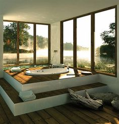 Dream tub...with mountains or a lake in the background would equal perfect