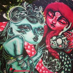 """""""Beautiful mural I stumbled upon in sf. Stoked to finally see a @lolo_ys & @caratoes collab in person !"""""""