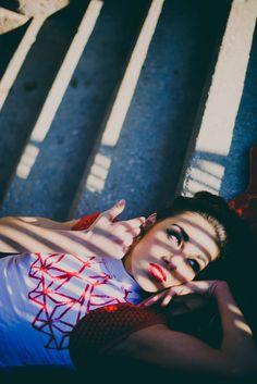Sarah Miller Makeup, maquilladora y estilista, emprendedora de origen americano que trabaja en el nuevo barrio de Valdebebas. Fotografía: Israel de Lago