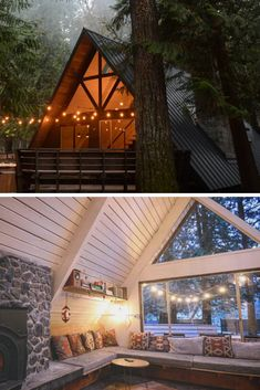 There is something magical about A-frame cabin homes. And today we are going to prove you it! A-frame cabin homes were super popular back in and and you … A Frame House Plans, A Frame Cabin, Cabins In The Woods, House In The Woods, How To Build A Log Cabin, Sweet Home, Lakefront Property, Cabin Homes, Rustic Design