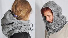 """Ob voluminöser Schal oder Mütze, wenn's dann mal so richtig kalt ist, das entscheidest du! Fertigen kannst du den """"mützen.SCHAL"""" aus nahezu allen Stoffen – ganz wie du magst. Ob superwarm für den Winter, oder doppellagig aus Jersey für den Herbst ♥"""