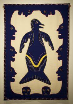 Inuit Art, Alaska, Folk Art, Needlework, Mystery, Batman, Tapestry, Superhero, Irene