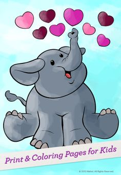Print this coloring page for Valentine's Day fun! #Crafts #Activity