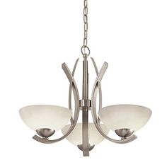 3+Light+Painted+Brushed+Nickel+Incandescent+Foyer+Pendant+–+USD+$+179.99