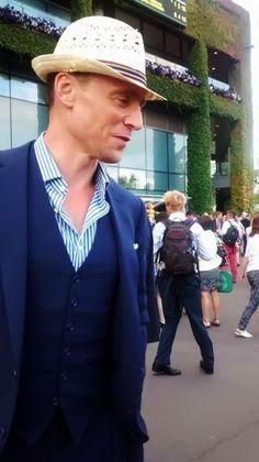 Tom Hiddleston at Wimbledon. Source: http://wendy7777.tumblr.com/