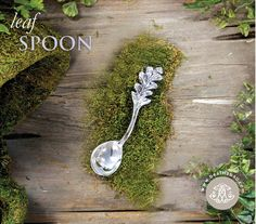 A spoon that makes you want to entertain! GARDEN Leaf Spoon (small $ 27.00 A charming and whimsical little spoon--inspired by the garden. Perfect for serving honey, jam, dips, salsa and sauces, you'll reach for it whenever company comes to call. #beatrizball #Garden #springentertaining #neverpolishmetalware