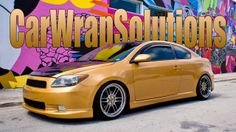 Scion tC Gold Metallic 3M vinyl wrap